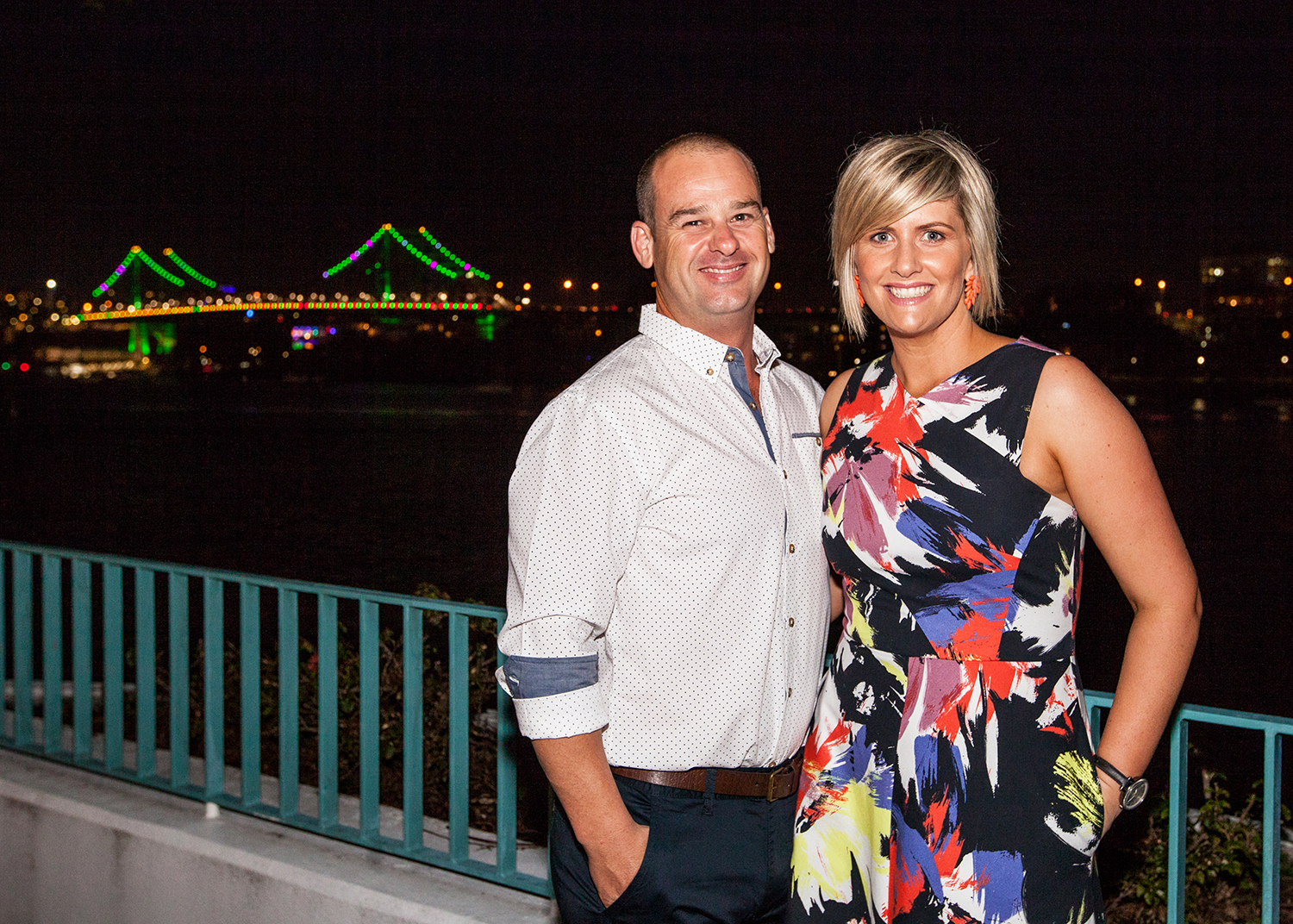 Christmas Event Social Photograph with the Brisbane Story Bridge at Stamford Plaza