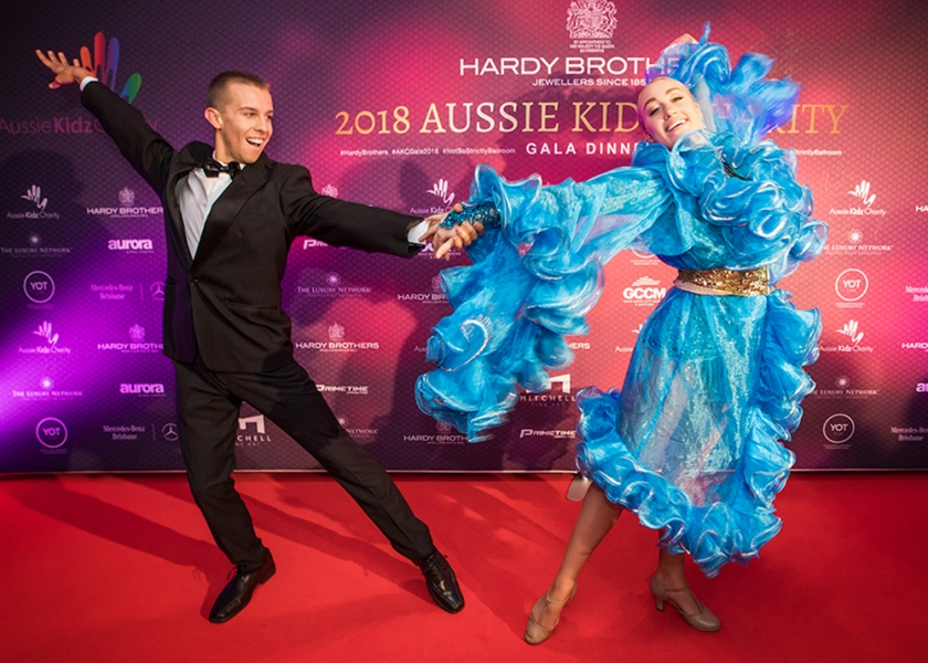 Ballroom Dancers at the Aussie Kidz Charity Gala at the W Brisbane Hotel