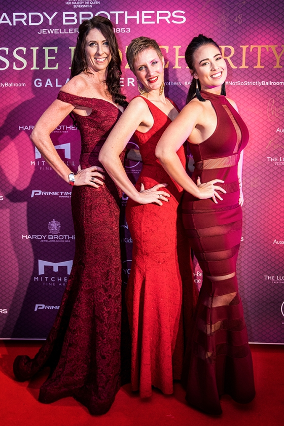 Lovely Ladies at the Red Carpet Media Wall for the Aussie Kidz Charity Gala Brisbane