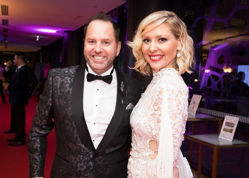 Aussie Kidz Charity Board Member Jason Roberts with Host Charli Robinson