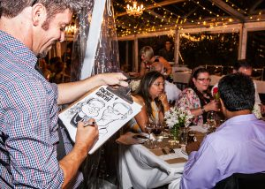 Caricarture Drawing at Stamford Plaza Christmas Event in Brisbane
