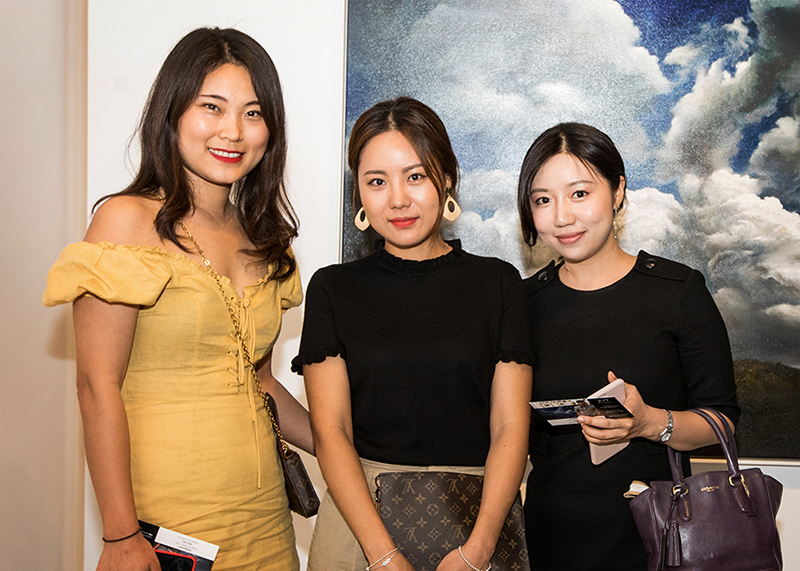 Mitchell Fine Art Gallery Guests at the Min-Woo Bang Exhibition opening in Fortitude Valley Brisbane