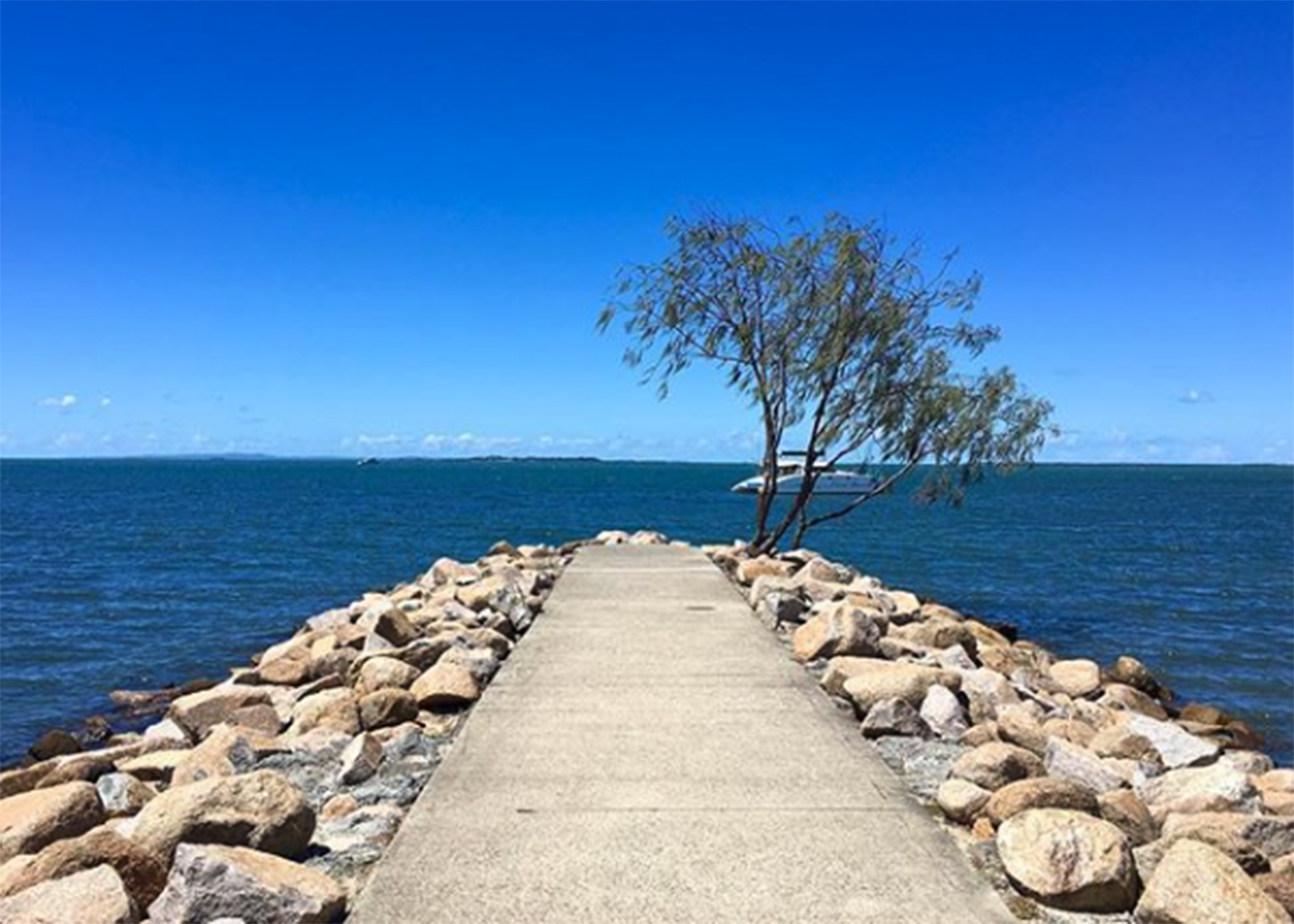 Wynnum Rock Wall Jetty in Brisbane Bayside