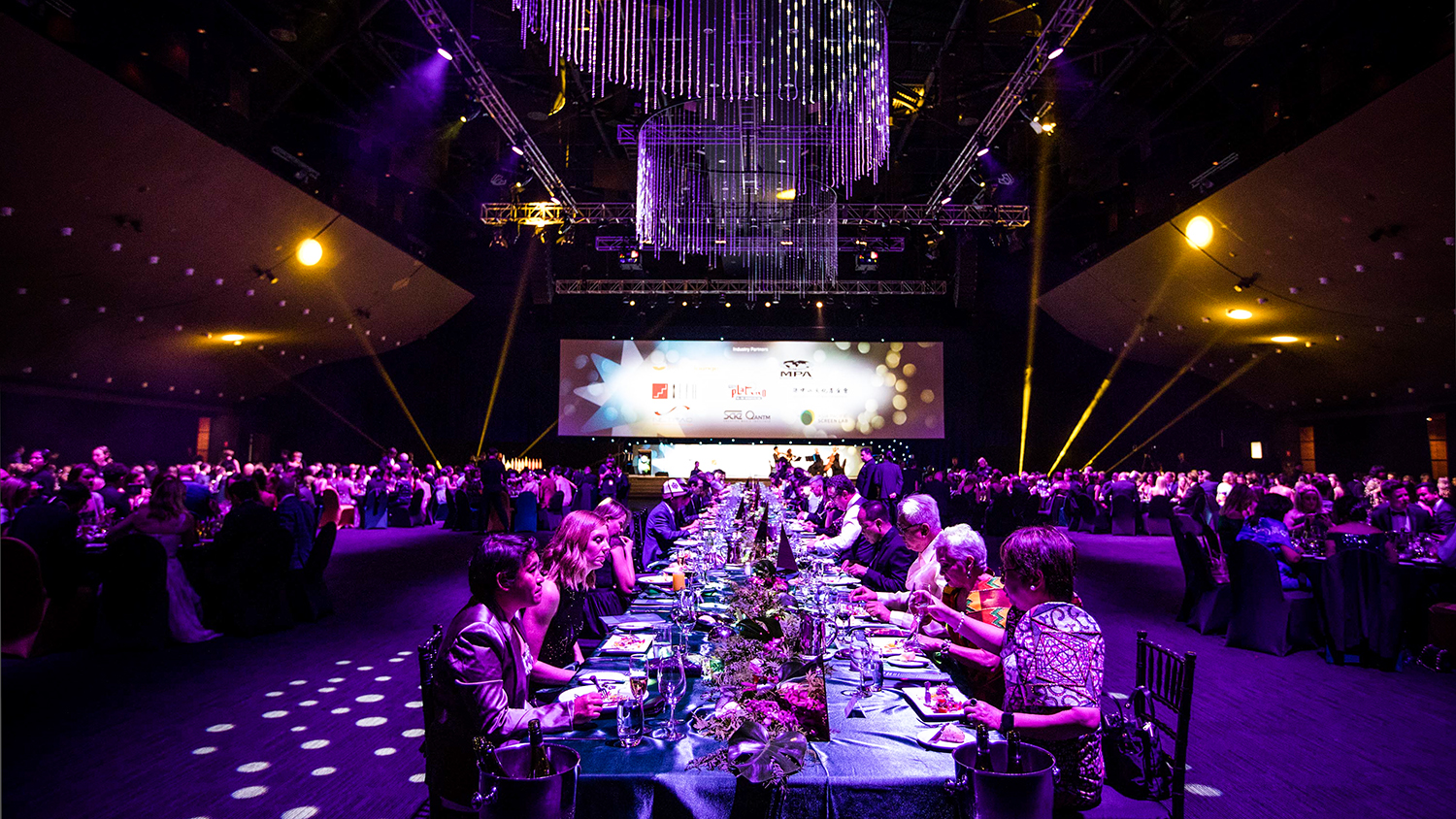12th Asia Pacific Screen Awards held in Brisbane with the view of the Nominees Centre Table