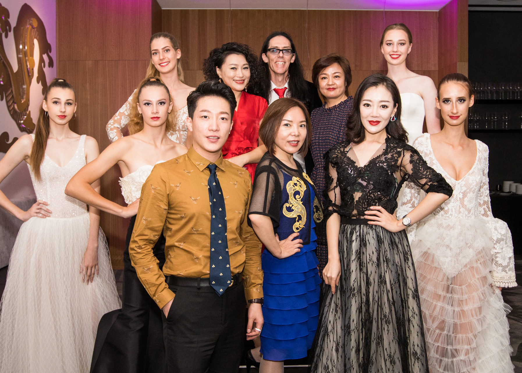 Chinese guest for the Australian Fashion Tour pictured with Brisbane's local Fashion Designer Brad Webb from Darb Bridal Couture