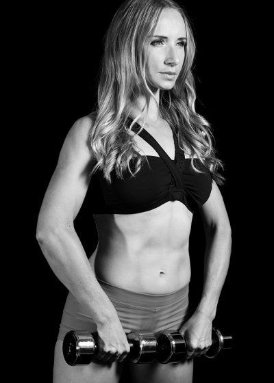 Fitness Portrait Photography Session with a Black Backdrop in Brisbane Photography Studio