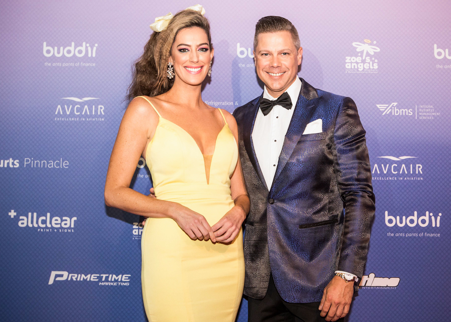Samantha Heathwood and Josh Holt as Hosts for the Zoe's Angels Charity Gala held at the Sofitel Hotel Brisbane
