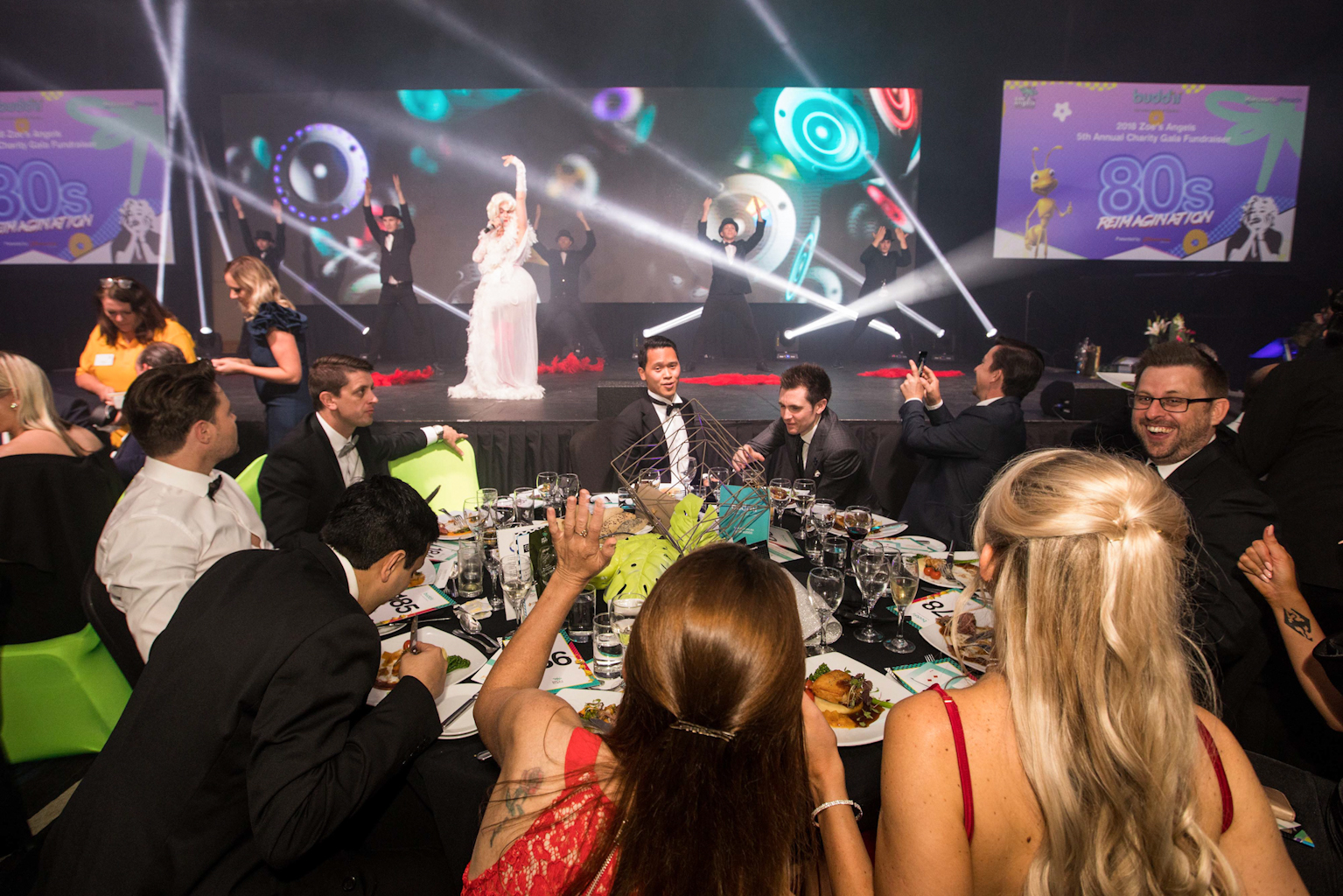 Madonna Entertainment at Zoe's Angels Charity Gala Event held at the Sofitel Hotel in Brisbane