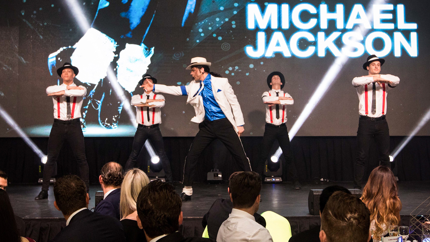 Brisbane Event Photographer capturing the Michael Jackson Entertainment at the Zoe's Angels Charity Gala held at the Sofitel Brisbane