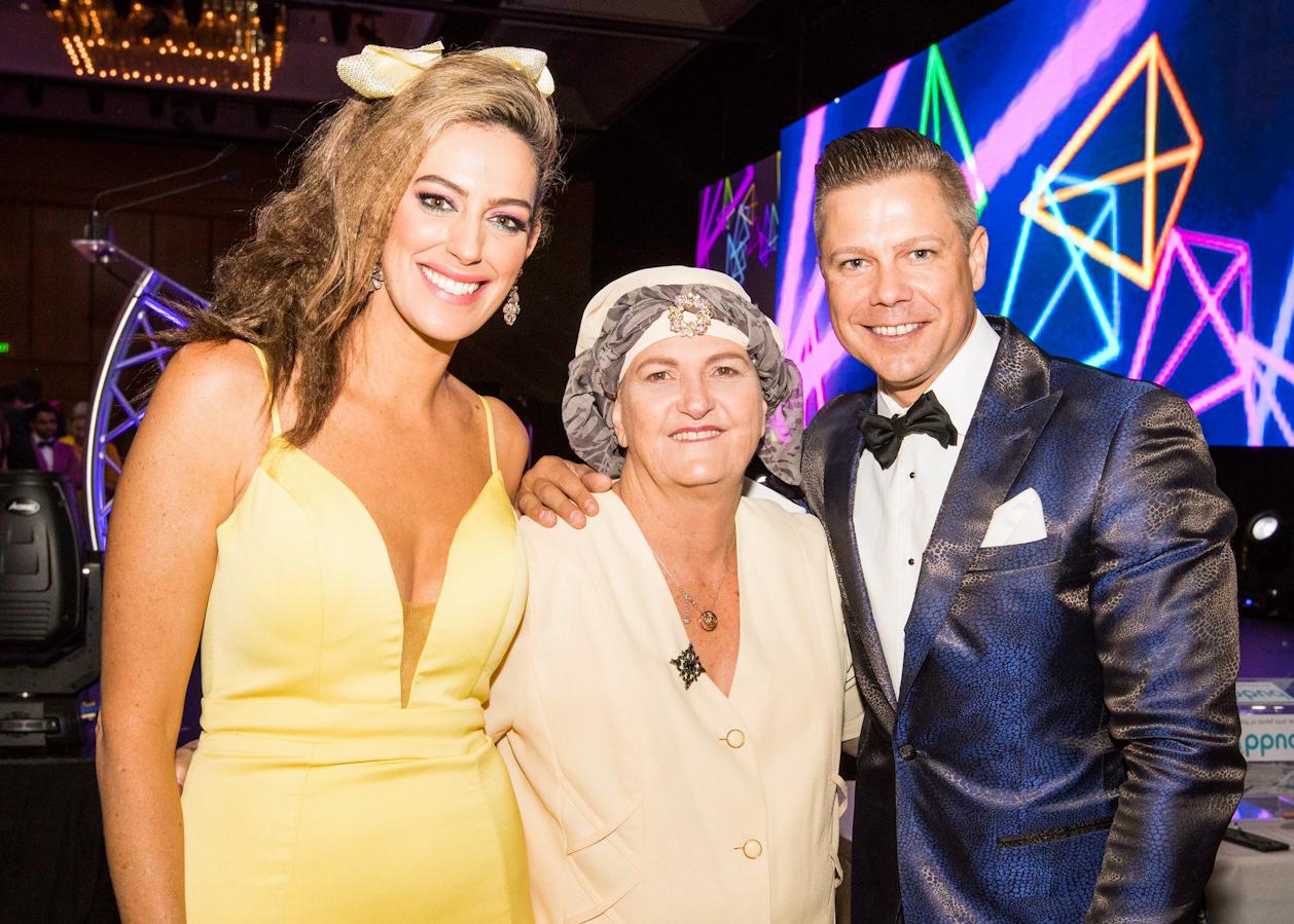 Samantha Heathwood and Josh Holt hosting the zoes angels charity gala in Brisbane