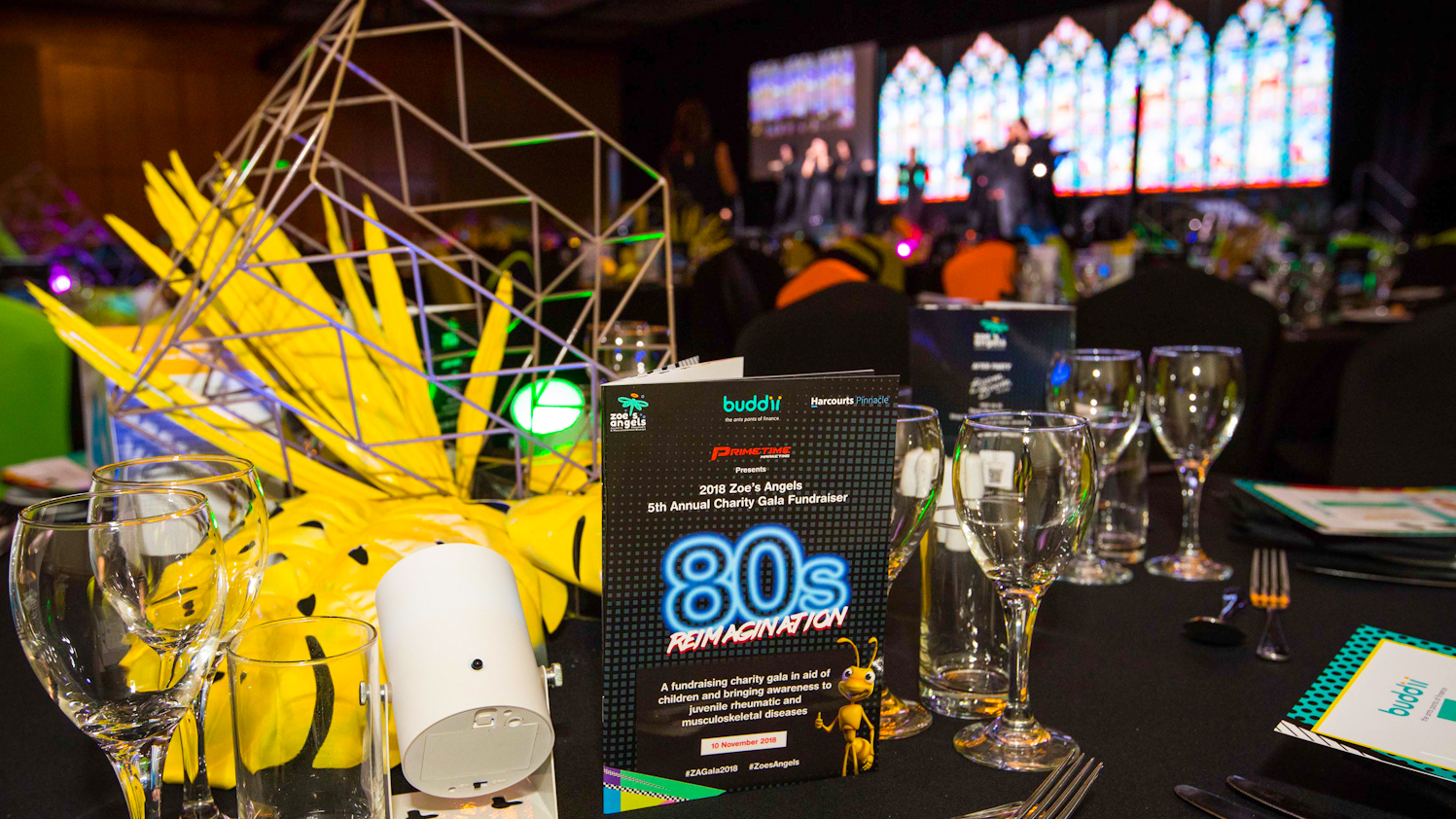 80s Theme Charity Fundraising Gala for Zoe's Angels Charity captured by Brisbane Event Photographer